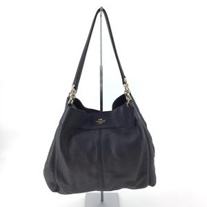 Coach Lexy Slate Pebble Leather Shoulder Bag